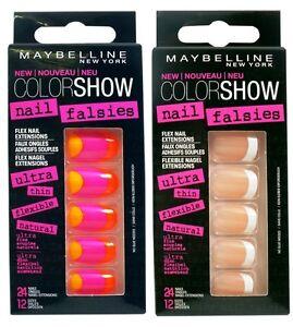 Maybelline Color Show Nail Falsies False / Fake 24 Nails 12 Sizes | eBay