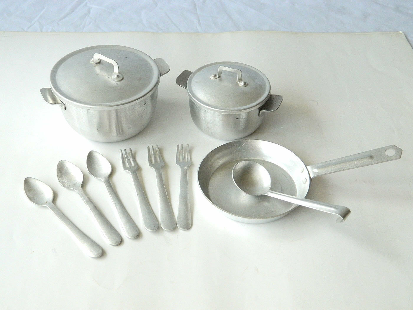 Ca.1920s Aluminum MINIATURE COOKING SET Portable Camping/Hiking Set