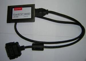 Adaptec-SlimSCSI-PCMCIA-Fast-SCSI-Adapter-Card-1460D-HD50-Cable-High-Density