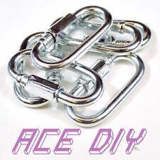 Quick Repair Link Heavy Duty Chain Extend Screw Lock Fastener Carabine Rope Hook