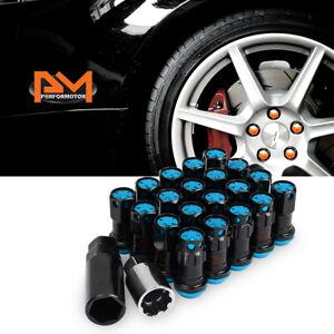 "20pc 2/"" Tall Aluminum Wheel Lug Nuts M12x1.25 Red with Key For Nissan Suzuki"