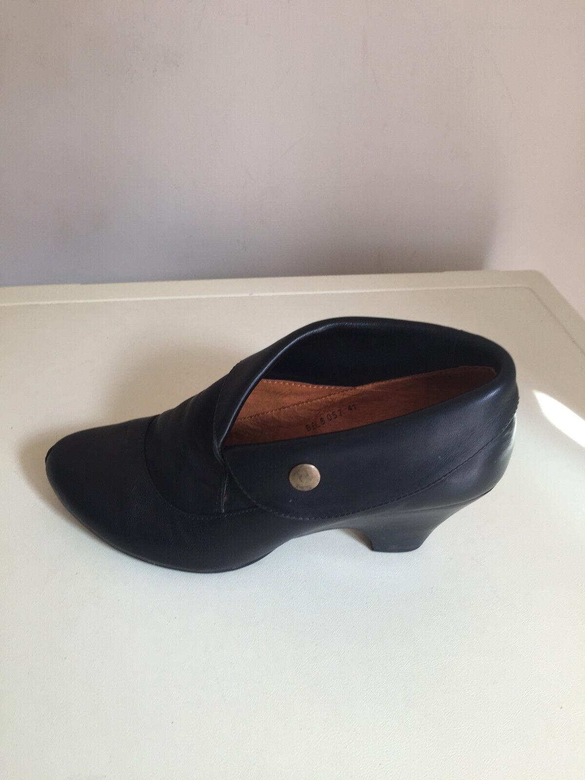 Mujeres Cuero Cuero Cuero Negro staccoto Tobillo botas Talla 41  barato y de alta calidad