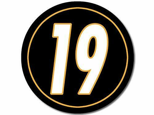 pitt Steelers Number Pittsburgh 4x4 inch Round #19 Juju Smith Schuster Sticker