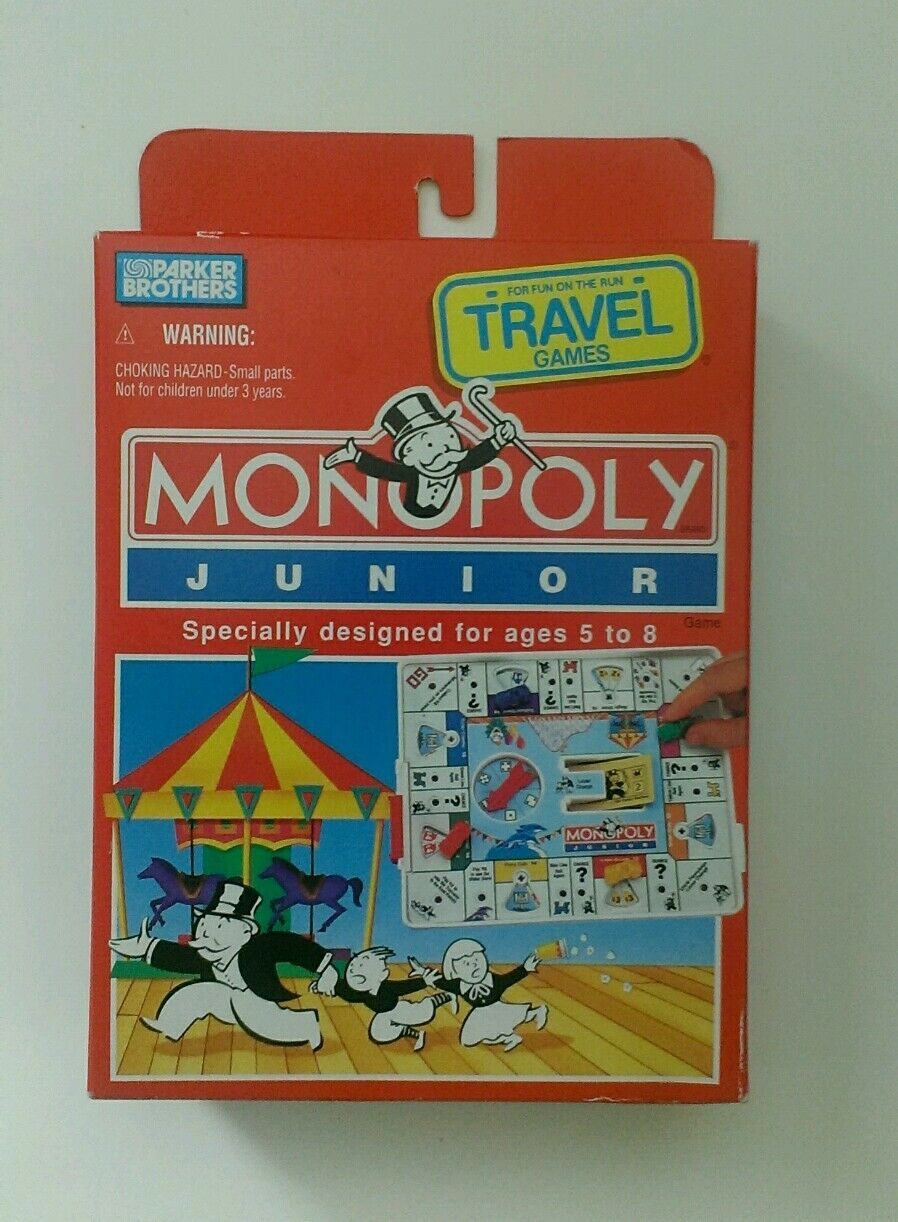 Vintage 1994 Parker Brothers Monopoly Junior Travel Edition NEW in BOX RARE