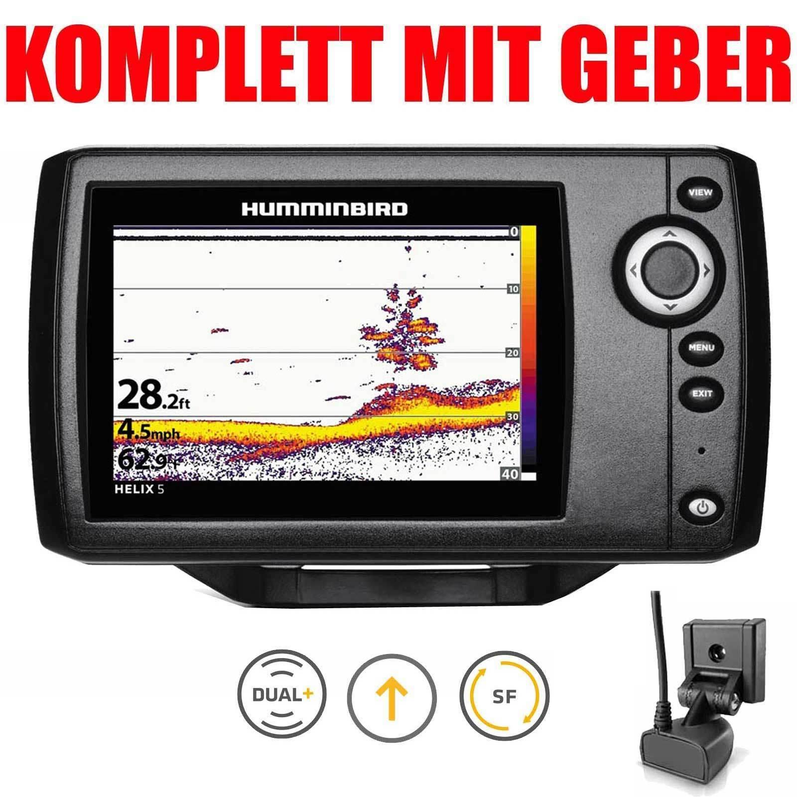 Humminbird Echolot komplett mit Geber Fischfinder - 5 Helix 5 - G2 Sonar c8b905