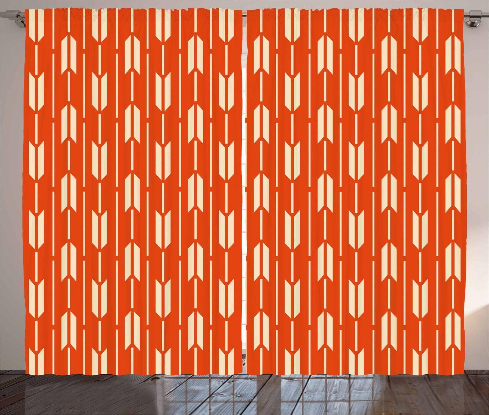 Cortinas de geometría exóticas 2 Panel Decoración conjunto 5 tamaños de ventana Cortinas