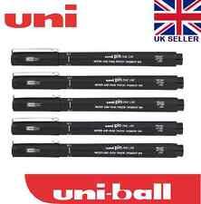 5 x UNI PIN DRAWING PEN FINELINER ULTRA FINE LINE MARKER IN BLACK 0.6Line Width0