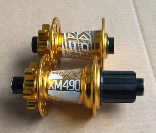 KOOZER Hub 32H Mountain XC AM Bike Thru Axle Hubs Front:100*15 Rear:142*12 Gold