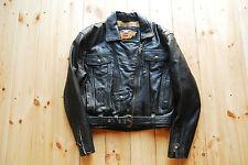 Ladies Black Thick Leather Biker Motorcycle Jacket by Harley-Davidson Medium