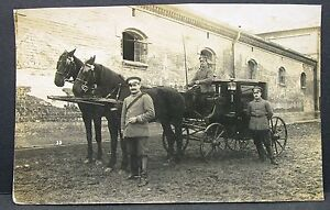 Soldiers-Carriage-Horse-Munchen-1916-WK1-Field-post-Card-WW1-Field-Card-Y-2654