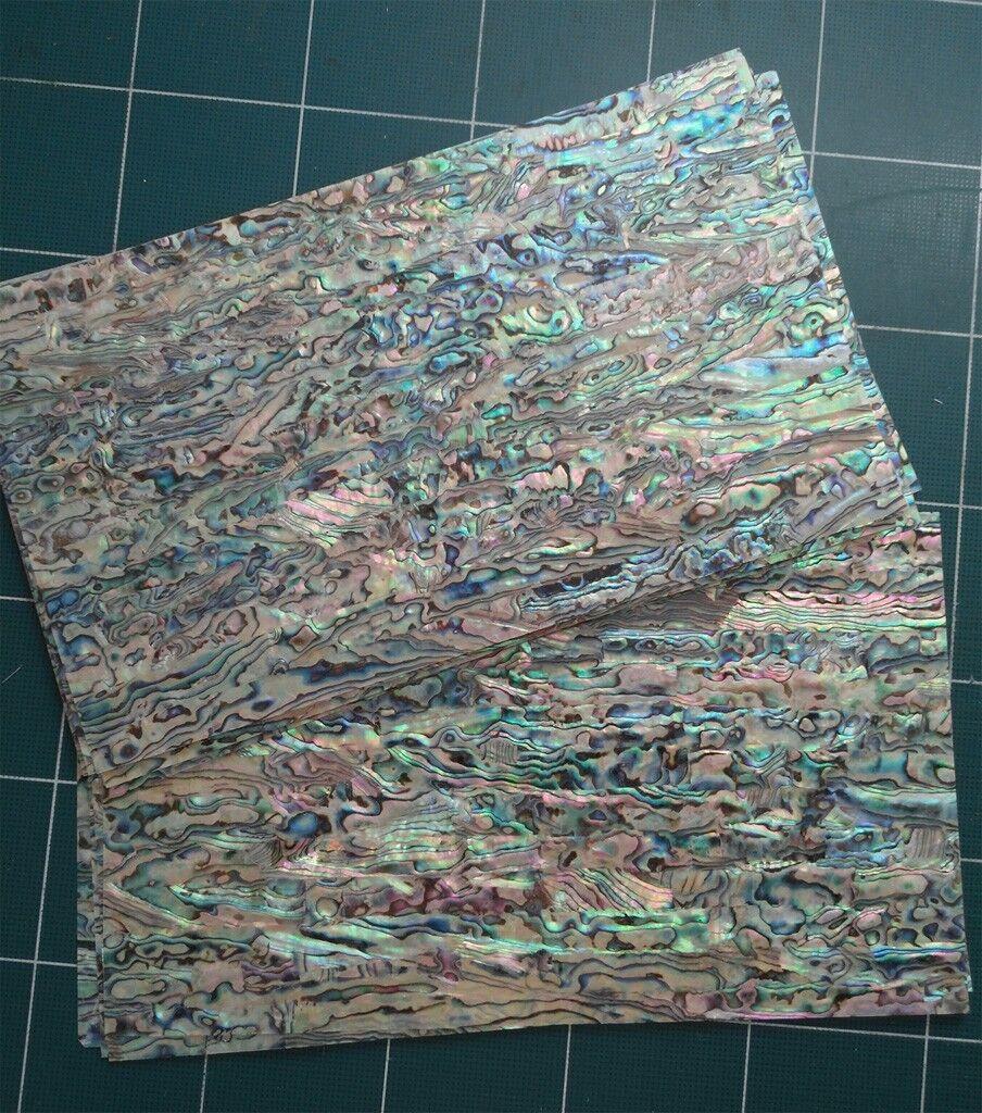 PAUA Blau sheet-shell inlay 240 x 140 x 0.15 mm - 5pcs