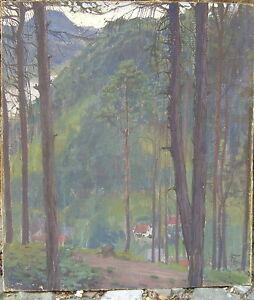 FRANZ-HELMUT-BECKER-1894-AUSBLICK-INS-TAL-OLGEMALDE-THURINGEN-ANTIK
