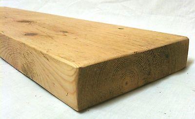 """Vernuftig Rustic Floating Wooden Shelf 6"""" Depth - Solid Reclaimed Pine Wood Mantel Shelves Gemakkelijk Te Smeren"""