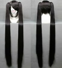 BLACK ROCK SHOOTER Cosplay Anime Long  Wig + 2 Clip On Ponytail 120cm 042B