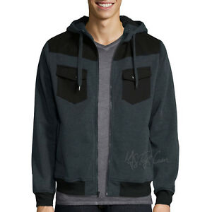 NWT Decree Men's Warm Sherpa lining Warm Winter Coat Grey Hooded ...