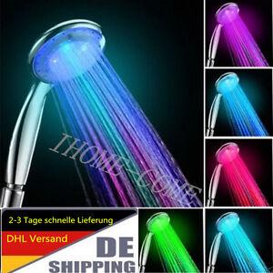 7 Farbe LED Duschkopf Duschbrause Brausekopf auto Licht Farbwechsel