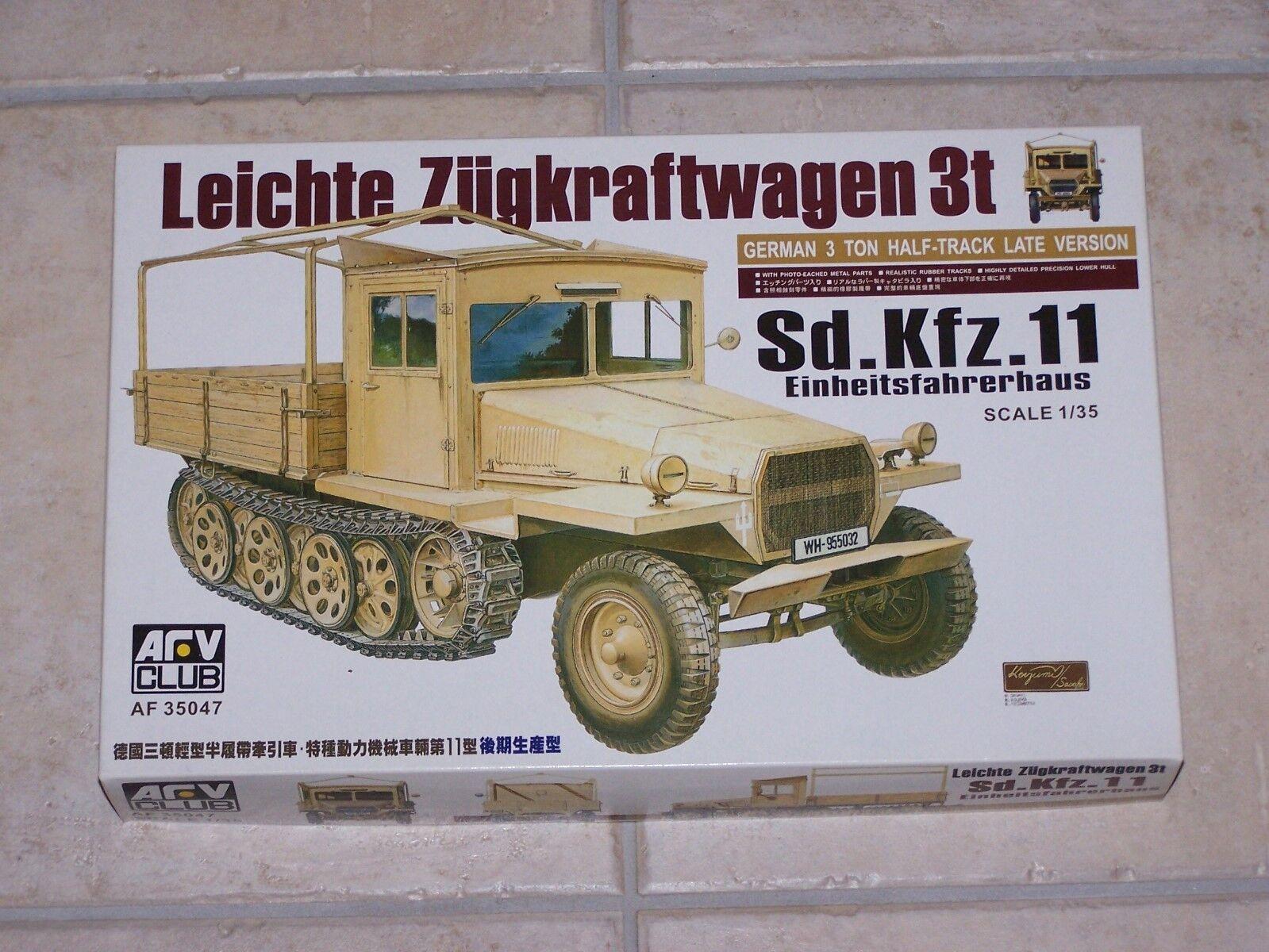 Maquette AFV CLUB 1 35ème LEICHTE ZUGKRAFTWAGEN 3t Sd.Kfz.11 Einheitsfahrerhaus