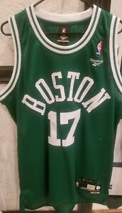 the latest 792b9 309f2 Details about VTG NBA Reebok HWC Boston Celtics John Havlicek Jersey Sewn  Mens Large 17 Cousy