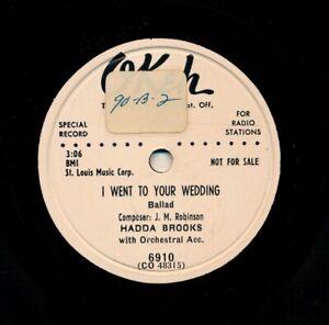 HADDA-BROOKS-on-1952-Okeh-6910-Promo-I-Went-To-Your-Wedding-My-Song