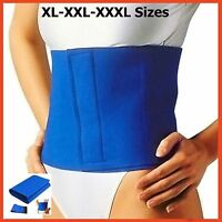 Xl-xxl-xxxl Waist Trimmer Belt Slimming Fat Belly Burner Sweat Detox Wrap Sauna