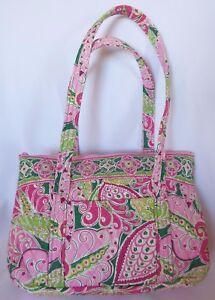 3b64d2412b VERA BRADLEY Pink Pinwheel Shoulder Bag Purse Handbag Tote Umbrella ...