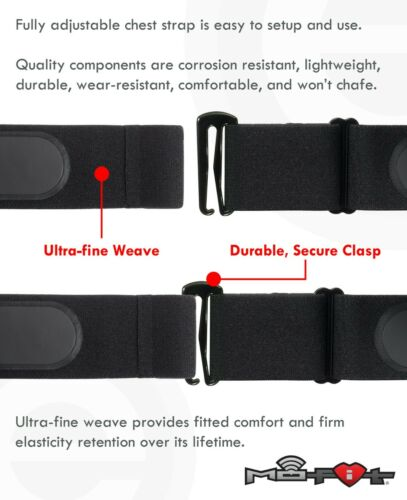 Heart Rate Monitor Soft Strap ReplacementUniversal Replacement Red, M-XXL Heart Rate Monitors Cycling