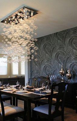 the best attitude 3267c 03e67 Modern Rectangular Chandelier Lighting Bubble Glass Flush Mount Ceiling  Lamp | eBay