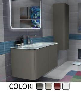 Mobile bagno da 94 cm lavabo cristallo bordi arrotondati arredo sospeso mobili 2 ebay - Bordi per mobili ...