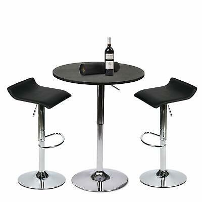 3 Piece Bar Table Set Bistro Bar Stools Counter Chairs Dining Kitchen  Furniture