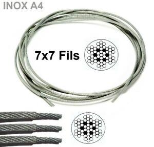 Cable en inox A4 gainé en PVC Transparent en Couronne ou Rouleau