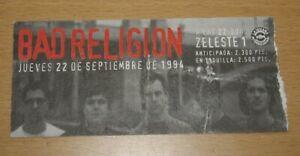 BAD-RELIGION-ORIGINAL-CONCERT-TICKET-1994-SPAIN