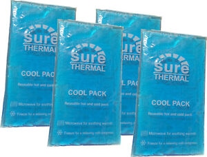 Reusable-Hot-and-Cold-Heat-Ice-Gel-Pack-X4-FOUR-Pack-for-First-Aid-Sports-Muscle