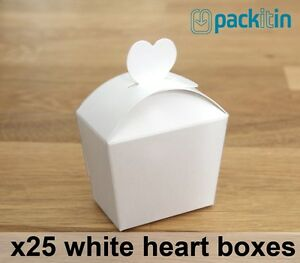x25-qty-WHITE-HEART-GIFT-BOXES-wedding-bomboniere-party-favours-baby-shower