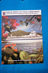 Song-of-Norway-Sun-Viking-Nordic-Prince-Brochure-with-Deck-Plans-1981