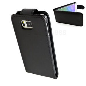 Protective-Black-Flip-PU-Leather-Skin-Cover-Case-Accessories-For-Samsung-Phones