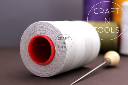 Leather Hand Sewing 0.8mm SPOOL 500m RITZA 25 Tiger Waxed Thread Julius Koch