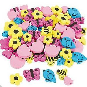 40 Birds And Bees Spring Beads Foam Craft Kids Flower Butterfly Ebay