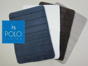 POLO-memory-foam-bath-mat-Luxuriously-soft-rubber-backed-amp-quick-drying