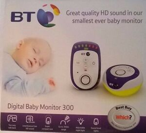 bt digital baby monitor 300m range ebay. Black Bedroom Furniture Sets. Home Design Ideas