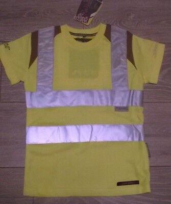 Bellissimo Equitazione & Ciclismo T Shirt Top Giallo Hi Viz Vis Equitazione Rockfish Riders-mostra Il Titolo Originale