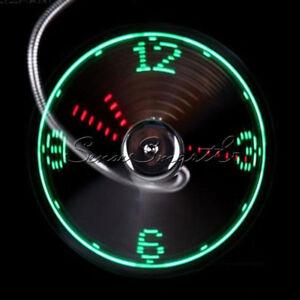 Portable-Mini-USB-DEL-horloge-fan-cooler-Avec-Temps-Reel-fonction-d-039-affichage-Fan