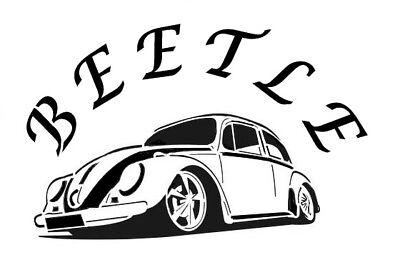 high detail airbrush stencil VW BEETLE FREE POST