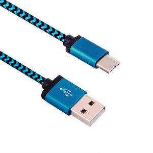 Universal-USB-C-3-1-Type-C-Data-Kabel-Ladekabel-Blau-Datenkabel-Fuer-Cell-Phone