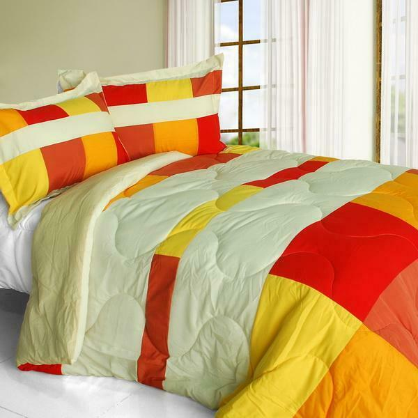Charming Bedford Down Alternative Comforter Set twin queen or king - rot Orange