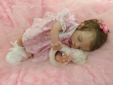 "Custom Reborn Baby doll MEGAN 16"" Preemie ~ Full Legs ~ Free US Ground Shipping"