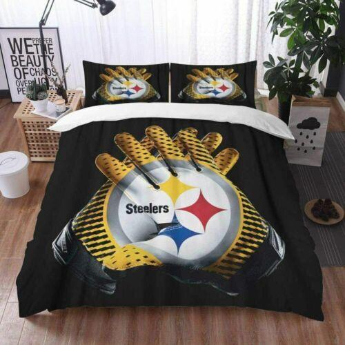 Pittsburgh Steelers ensemble de literie housse de couette Taies d/'Oreiller Avec Housse de couette US Taille