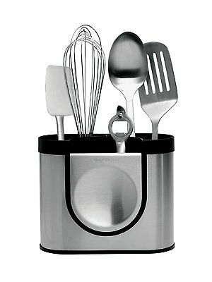 Simplehuman, Utensil Holder, Brushed Steel, KT1040