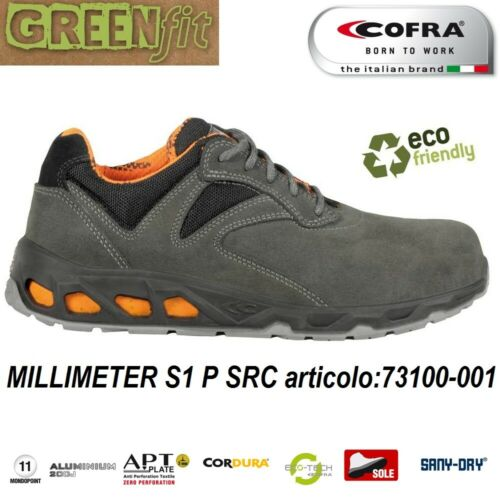678e68356e2 Nylon S1 Milímetro Cordura® Zapato seguridad Src Scamosc P de Cuero Cofra  USzMVGqp