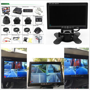4CH-Car-DVR-Video-Recorder-7-034-Car-LCD-Monitor-4XNight-Vision-Camera-For-Truck-Bus