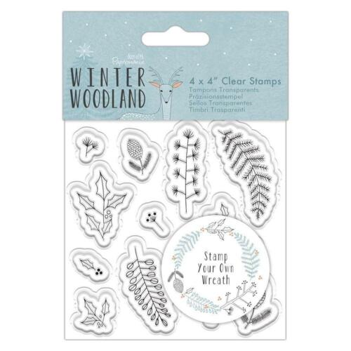 13 x Papermania Winter Woodland Clear Stamp Wreath Card Making Scrapbook Crafts